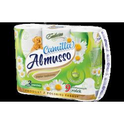 ALMUSSO PAPIER TOALETOWY rumiankowy Camilla z balsamem 3 warstwy 9 rolek