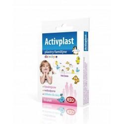 Plasterki dziecięce familijne Activplast 16sztuk