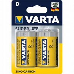Baterie VARTA superlife D R20 2szt grube