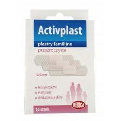 Plastry familijne przezroczyste Activplast 16 szt.