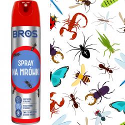 BROS Muchospray na muchy komary osy owady 400ml