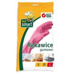 PACLAN Rękawice gumowe L gospodarcze BEE SMART