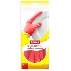 """MASTER rękawice gumowe gospodarcze """"L"""" DWUKOLOROWE"""