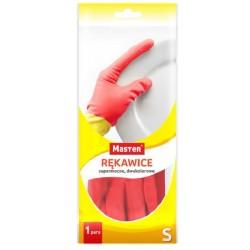 """MASTER rękawice gumowe gospodarcze """"S"""" DWUKOLOROWE"""
