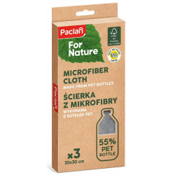 PACLAN FOR NATURE ŚCIERKI 30X30 MIKROFIBRA 3SZT