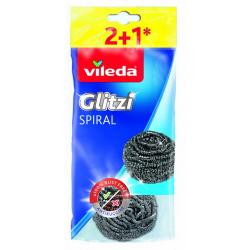 VILEDA ZMYWAK STALOWY INOX 3 sztuki Glitzi Spirala
