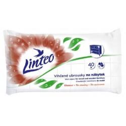 Chusteczki nawilżane Linteo do czyszczenia mebli i drewnianych powierzchni, 40 sztuk