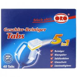 ORO Tabletki do mycia naczyń w zmywarkach 5w1 40 sztuk