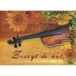 Zeszyt do nut, do muzyki 16 - kartkowy miękka okładka