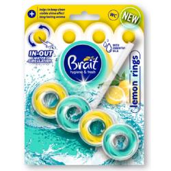 Brait Fresh KOSTKA DO WC 2-fazowa LEMON RINGS 40g