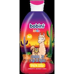 BOBINI Szampon+żel+płyn- 3w1 LAMA tajemnicza truskawka