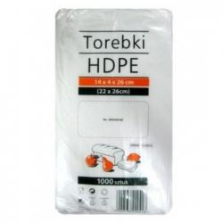 Torebki - woreczki foliowe HDPE 14x4x32 1000szt