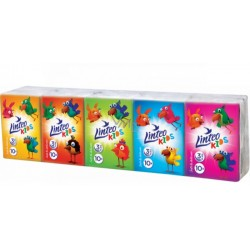 Chusteczki higieniczne Linteo mini 10x10szt., białe, trójwarstwowe