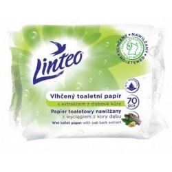 Papier toaletowy nawilżany Linteo z wyciągiem z kory dębu 60 sztuk