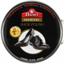 BUWI Premiere pasta stała do obuwia czarna 40g