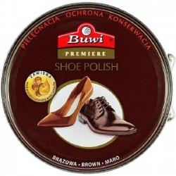 BUWI Premiere pasta stała do obuwia brązowa 40g