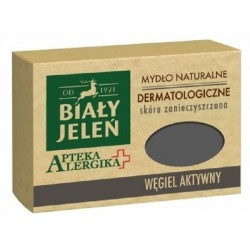 Biały Jeleń mydło dermatologiczne z węglem aktywnym Apteka Alergika 125 g