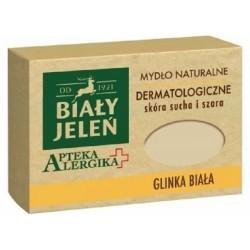 Biały Jeleń mydło dermatologiczne z glinką białą Apteka Alergika 125g