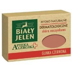 Biały Jeleń mydło dermatologiczne z glinką czerwoną Apteka Alergika 125 g