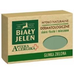 Biały Jeleń mydło dermatologiczne z glinką zieloną Apteka Alergika 125 g