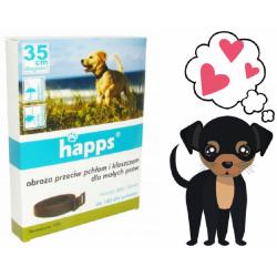 HAPPS obroża przeciw pchłom i kleszczom dla psów małych
