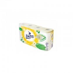 Papier toaletowy Linteo, 8 rolek, biały, trójwarstwowy RUMIANEK