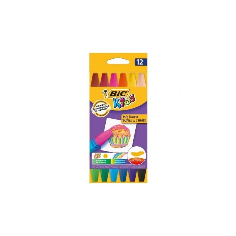 BiC kids KREDKI PASTELE OLEJNE  12 kolorów