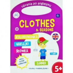 Kolorowanka dla dzieci po angielsku UBRANIA