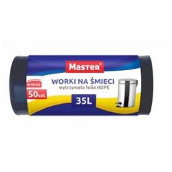 MASTER Worki na śmieci 35 litrów 50 sztuk czarne HDPE