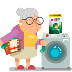 Mill professional kapsułki do prania uniwersalne 30 sztuk