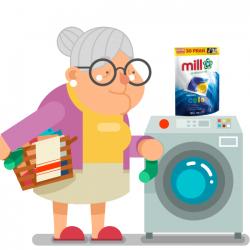 Mill professional kapsułki do prania kolorowych 30 sztuk