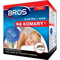 BROS elektro urządzenie + płyn / zapas na komary 60 dni / nocy
