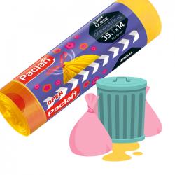 Worki na śmieci zapachowe żółte 35l 14 sztuk PACLAN