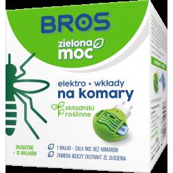 KOMARY Bros elektro urządzenie+10 wkładów ZIELONA MOC